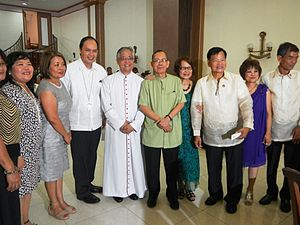 Roman Catholic Archdiocese of San Fernando - Bishop David, Archbishop Lavarias, and Apu Ceto