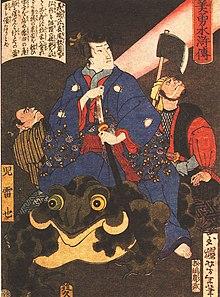 Những tư liệu Kishi từng sử dụng để viết nên Naruto 220px-Jiraya_magicien_Yoshitoshi