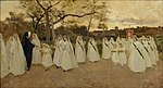 Joaquim Vayreda - Procession of Schoolgirls - Google Art Project.jpg