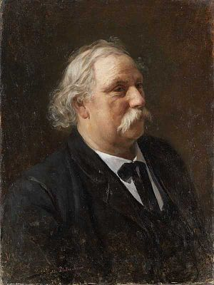 Knud Bergslien - Portrait of Knud Bergslien by Johanne Mathilde Dietrichson, 1854