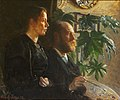 Johansen viggo-self portrait with palette in hand and wife martha.jpg