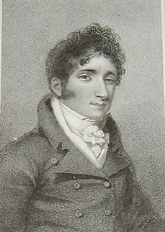 "John Braham - John Braham as ""Lord Aimworth"", steel line engraving by Thomson/Foster, 1818"