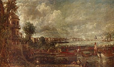 Opening of Waterloo Bridge (Apertura del puente de Waterloo), de John Constable.