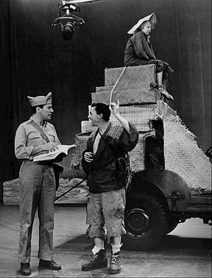 The Teahouse of the August Moon (play) - John Forsythe as Fisby and David Wayne as Sakini on Broadway in 1954
