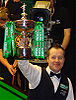 John Higgins with the World Snooker Championship Trophy following his last win in 2007.