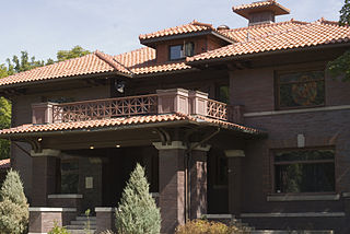 John M. Keith House in Missoula, Montana.  Built in 1910, it was listed on the National Register of Historic Places in 1983