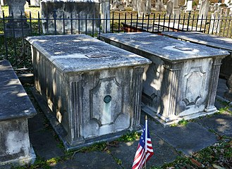 Shockoe Hill Cemetery - Crypts of Chief Justice John Marshall (left) and his wife, Mary Willis Ambler Marshall, in Shockoe Hill Cemetery, Richmond, VA.