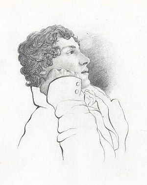 Fanny Brawne - Portrait of John Keats by his friend Charles Brown, 1819