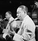 Johnny Hodges and Al Sears, Aquarium, New York, ca. Nov. 1946 (William P. Gottlieb 04191).jpg