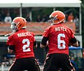 Johnny Manziel and Brian Hoyer 2014 Browns training camp.jpg