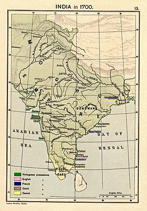 Presidencies and provinces of British India - Image: Joppen 1907India 1700a
