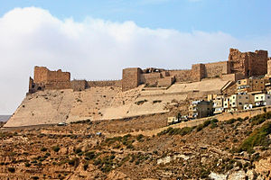 An-Nasir Ahmad, Sultan of Egypt - The fortress of al-Karak, where Ahmad was based for much of his life