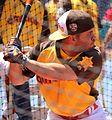 Jose Altuve takes batting practice on Gatorade All-Star Workout Day. (28555476342).jpg
