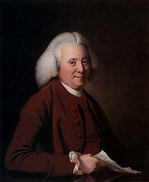 Sir Samuel Crompton, 1st Baronet - Samuel Crompton's father – painting from Derby Art Gallery