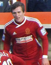 Josh Law playing for Alfreton Town in 2013