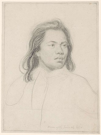 Portrait of Omai - Sir Joshua Reynolds, Pencil sketch of Omai, Rex Nan Kivell Collection, National Library of Australia