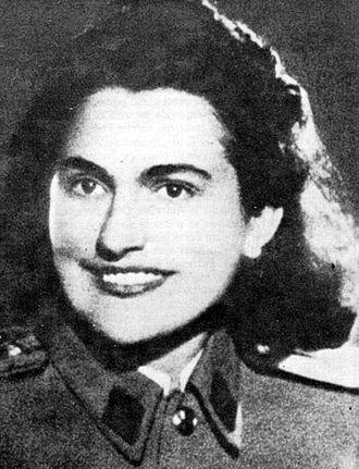 Jovanka Broz - Jovanka Broz as a Partisan in the 1940s.