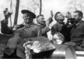 Jozef De Coene met Stijn Streuvels, Albert Saverys en Arthur Deleu.PNG