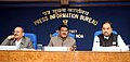 Jual Oram addressing at the release of a curtain raiser on the National Tribal festival-2015 VANAJ, in New Delhi. The Secretary Ministry of Tribal Affairs, Dr. H. Panda and Director General (M&C), Press Information Bureau.jpg