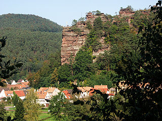 Jungfernsprung mountain in Germany