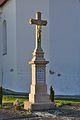 Kříž před kostelem, Želetice, okres Hodonín.jpg