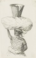 KITLV - 36B277 - Borret, Arnoldus - Woman with a bundle and a basket on her head - Pen and ink - Circa 1880.tif