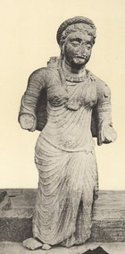 A sculpture of woman wearing a saree believed to date from around 200AD.