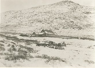Umanak (mission) - The Herrnhut mission station Uummannaq at the bay of Nuuk (c.1900)