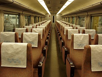 Economy class - Economy class seats of Kintetsu 16000 series train (Japan)