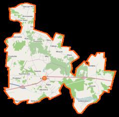 Mapa lokalizacyjna gminy Kałuszyn
