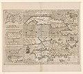 Kaart van vijf Caraibïsche eilanden Cuba, Haïti, Jamaica, Puerto Rico en St. Margareta Cuba Insula Hispaniola Insula Insula Iamaica Ins. S. Ioannis I.S. Margareta cum confiniis (titel op object), NG-501-92.jpg