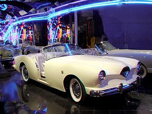 Kaiser-Frazer - 1953 Kaiser Darrin sports car in 3D Anachrome. Body design by Dutch Darrin and Bill Tritt.