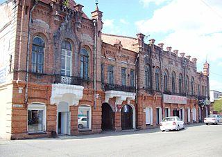 Kamen-na-Obi Town in Altai Krai, Russia