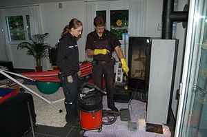 German model - a master chimney sweep and apprentice in 2008