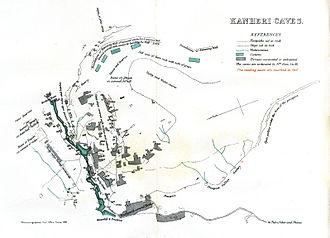 Kanheri Caves - Map (1881)