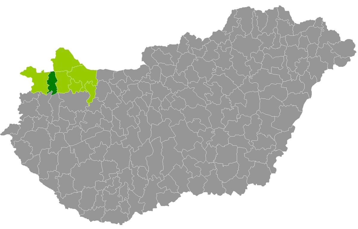 magyarország térkép kapuvár Kapuvár District   Wikipedia magyarország térkép kapuvár