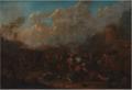 Karel Breydel - Cavalry skirmish at a fortress.tiff