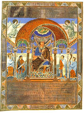 Codex Aureus of St. Emmeram - Image: Karl II der Kahle