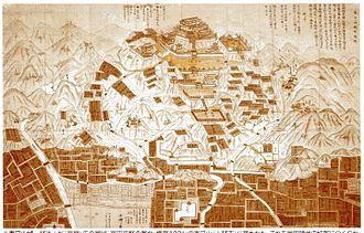 Kasugayama Castle - New print of the old map
