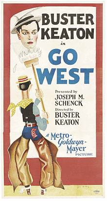 Description de l'image Keaton Go West 1925.jpg.