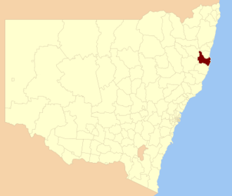 Kempsey Shire - Location in New South Wales