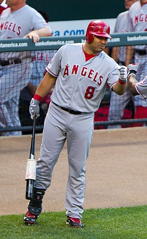 Kendrys Morales - Morales during his tenure with the Los Angeles Angels of Anaheim in 2012