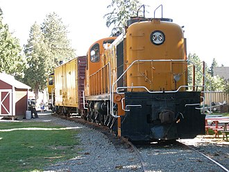 ALCO RSD-4 - Kennecott Copper Corporation locomotive 201 on display at Snoqualmie Depot, Snoqualmie, Washington