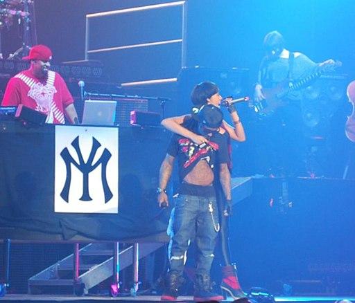 Keri Hilson and Lil Wayne performing at General Motors Place in Vancouver