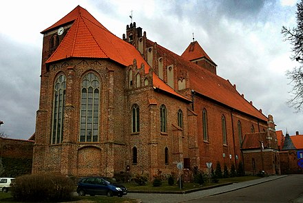 Brick Gothic Saint George Basilica in Ketrzyn, northern Masuria Ketrzyn, Poland - panoramio.jpg