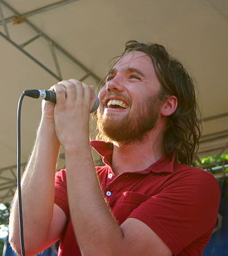 Kevin Drew - Performing with Broken Social Scene at the Intonation Music Festival, 2005.