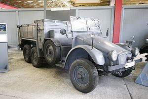 Krupp Protze - Krupp Kfz.70 on display at Deutsches Panzermuseum, Germany.