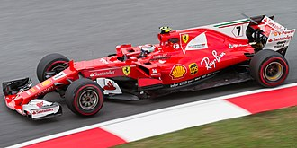 Ferrari SF70H - Kimi Räikkönen driving the SF70H during practice for the Malaysian Grand Prix