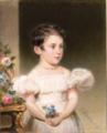 Kind met een boeket bloemen door Alois von Anreiter (1803-1882).png