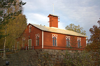 Klabböle Power Plant dam in Umeå
